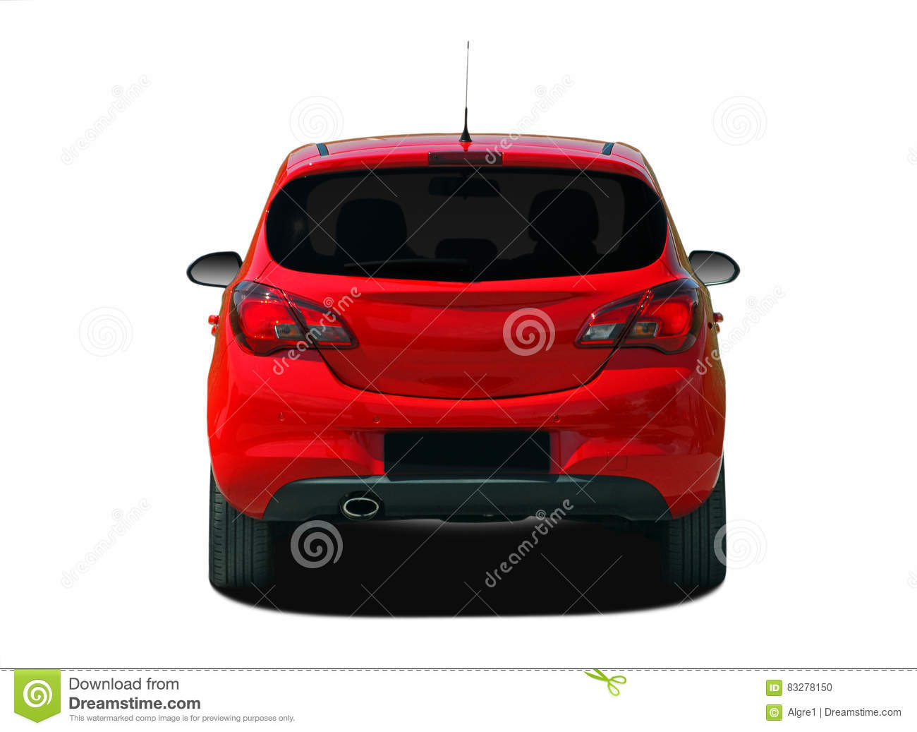 four wheel drive red car side view royalty free cartoon 11205653. Black Bedroom Furniture Sets. Home Design Ideas