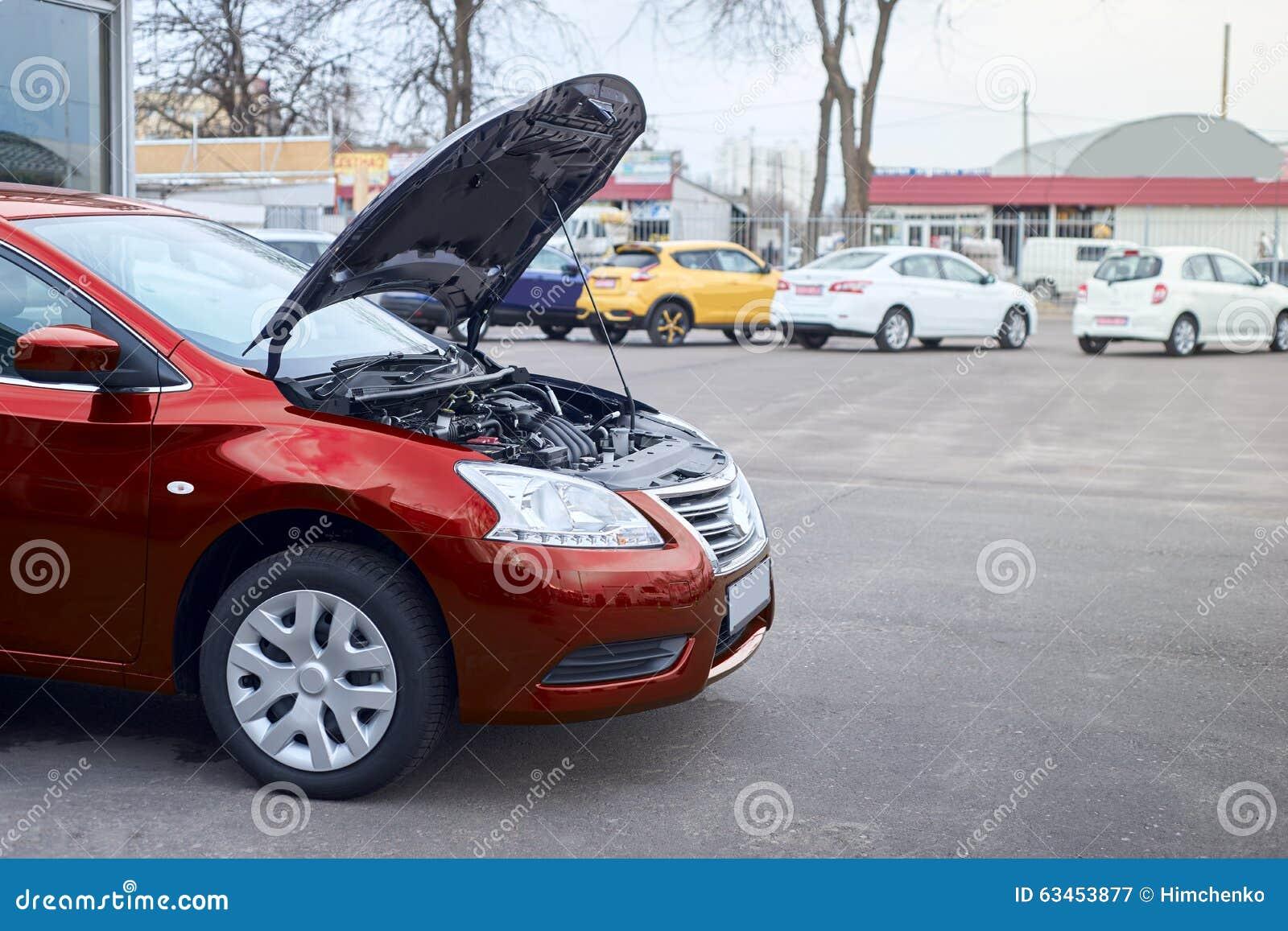 Car Broke Down >> Red Car Broke Down Stock Image Image Of Service Down