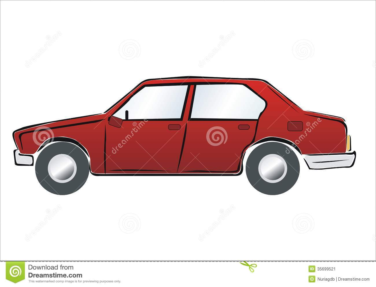 Red Car Stock Image - Image 35699521