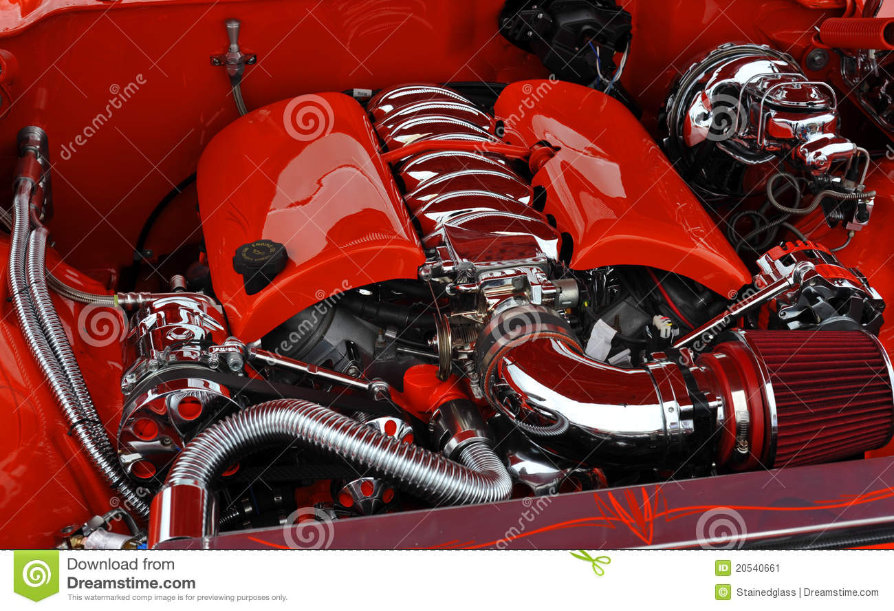 Red Car Engine