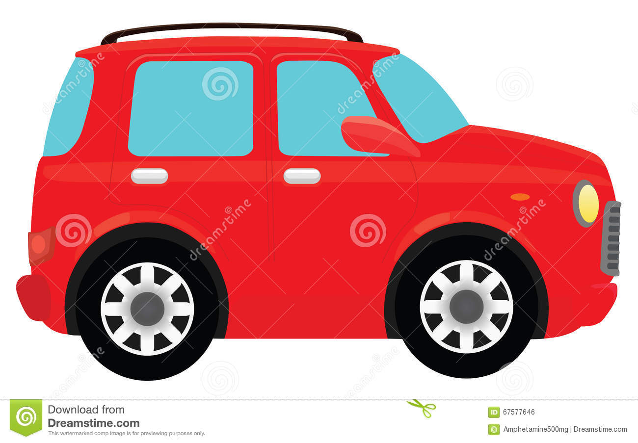 Download Red Car stock vector. Illustration of background, vehicles - 67577646