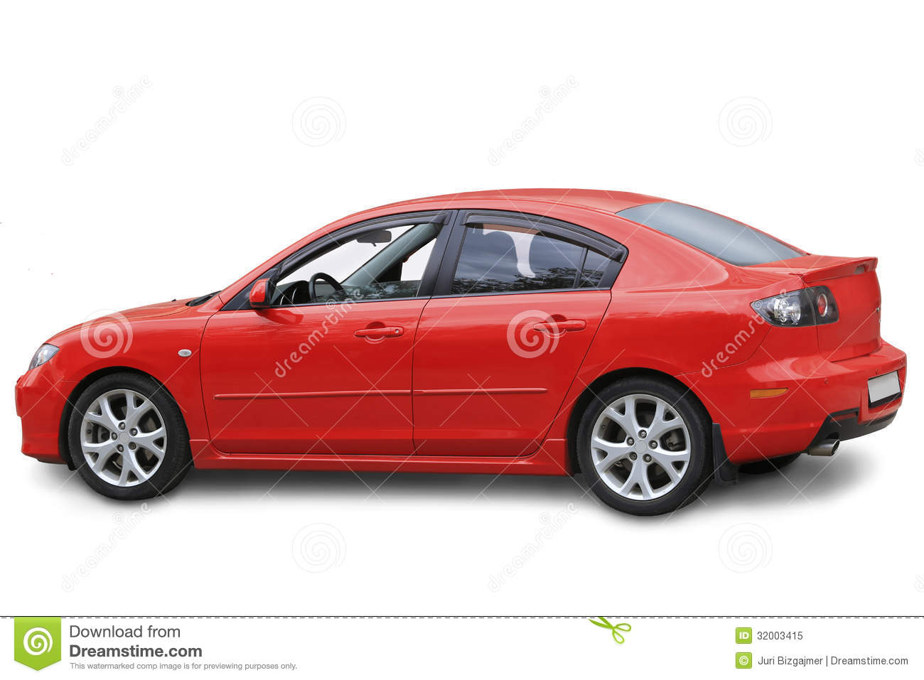 Red The Car Isolated Royalty Free Stock Photo - Image ...