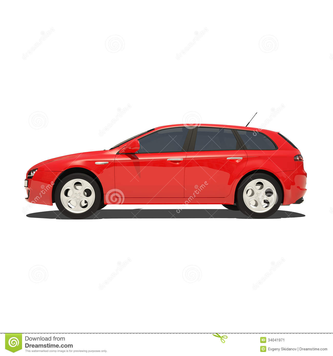 White Tire Paint >> Red Car Isolated On White Background Stock Image - Image: 34041971