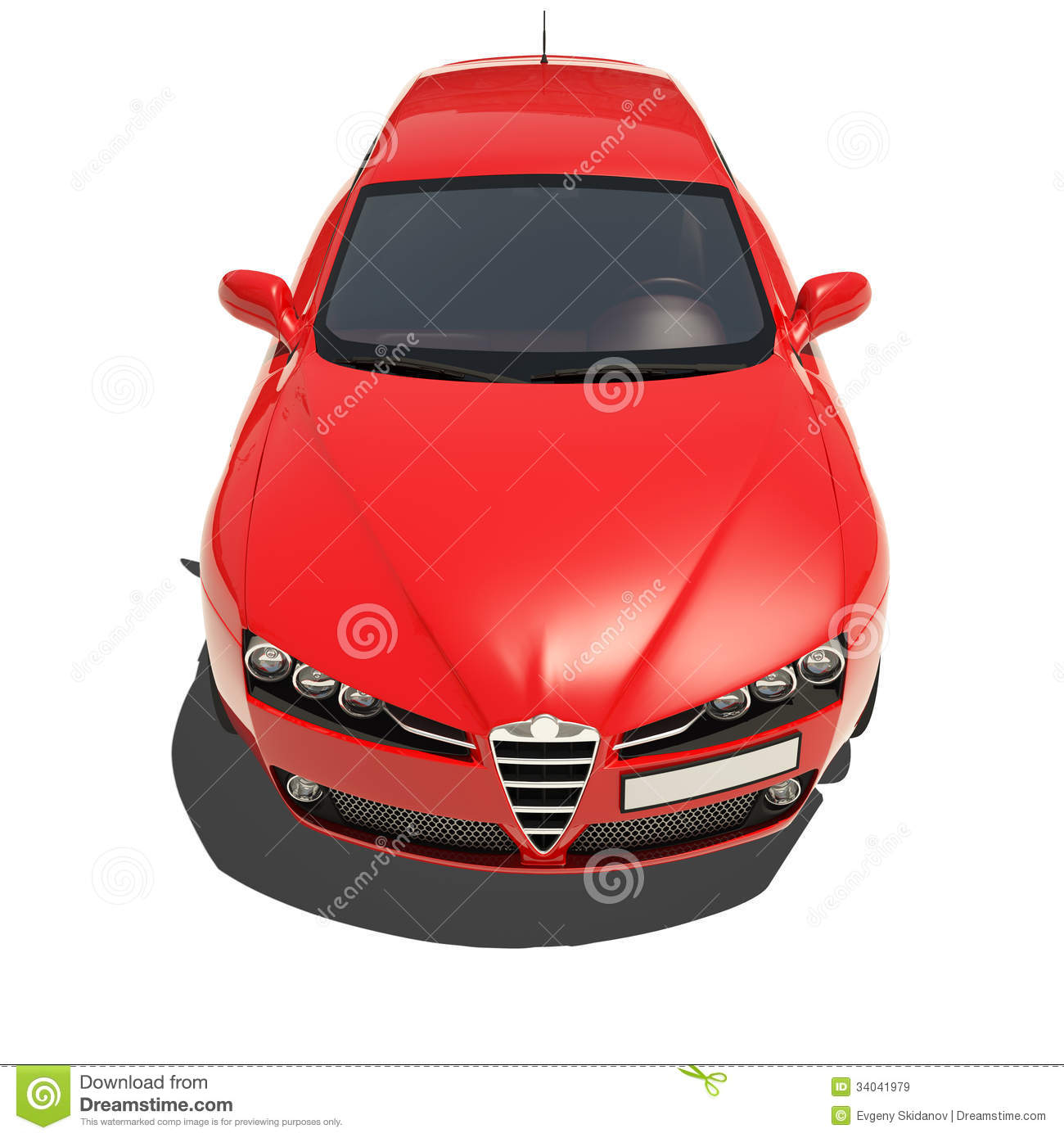Red Car Isolated On White Background Royalty Free Stock ...