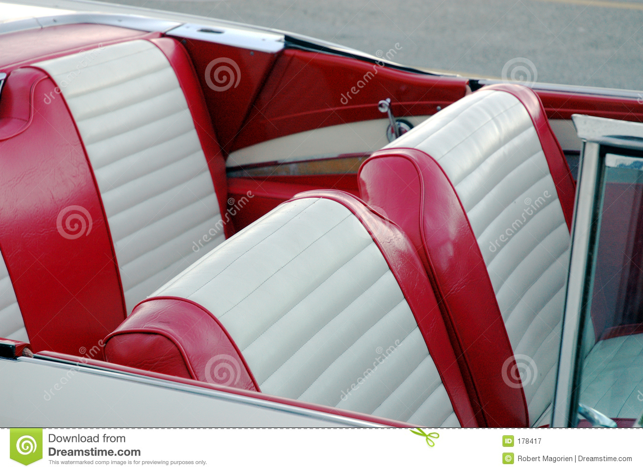 Red Car Seats Stock Image Of Wind Inside Convertible