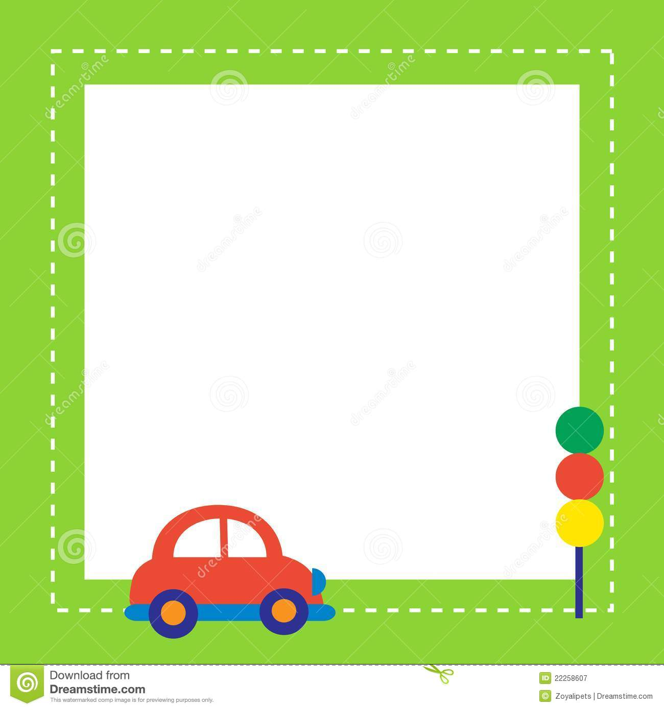 Red Car With Traffic Light Stock Vector Image Of Small