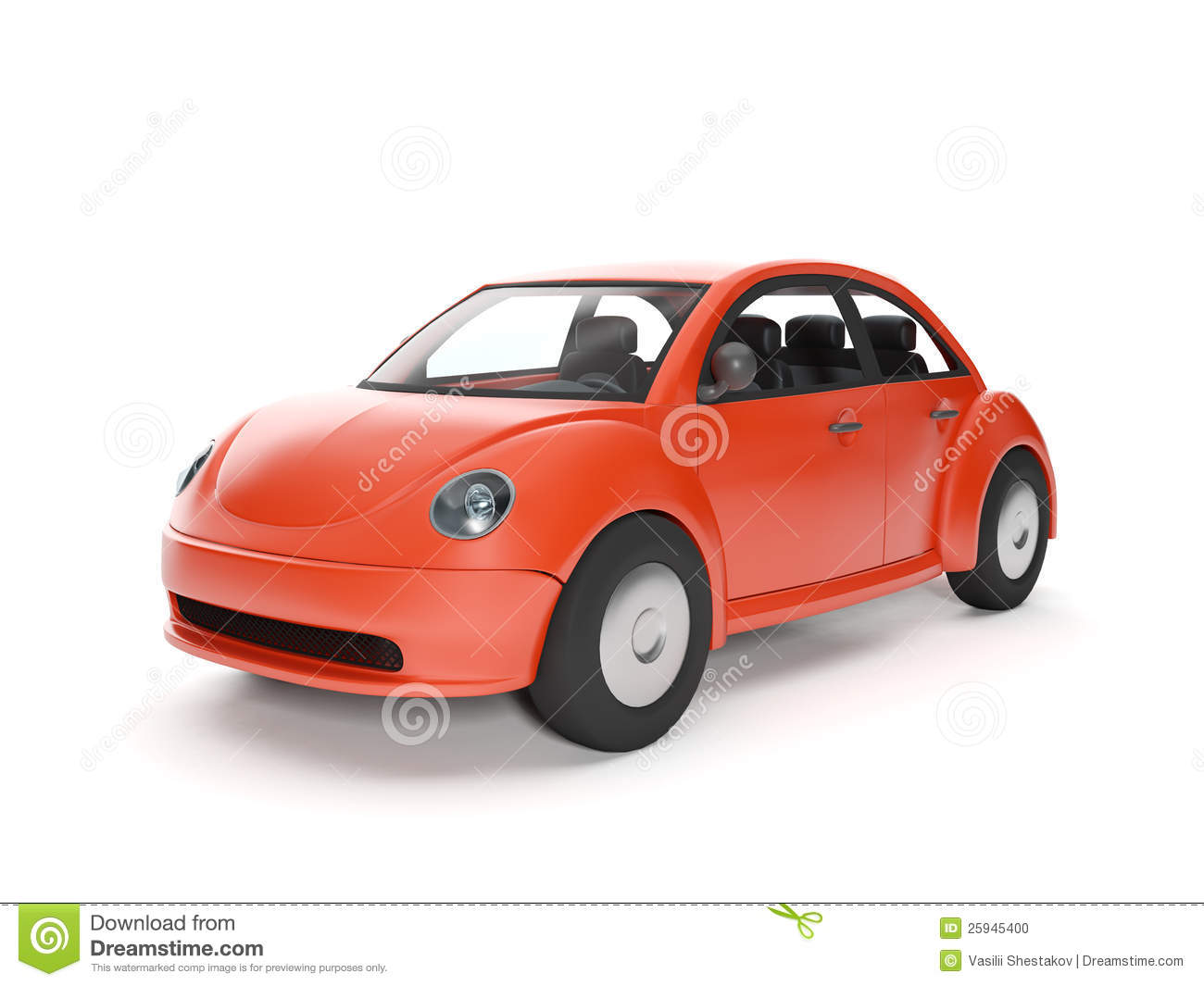 Red Car On A White Background Stock Photo - Image: 25945400