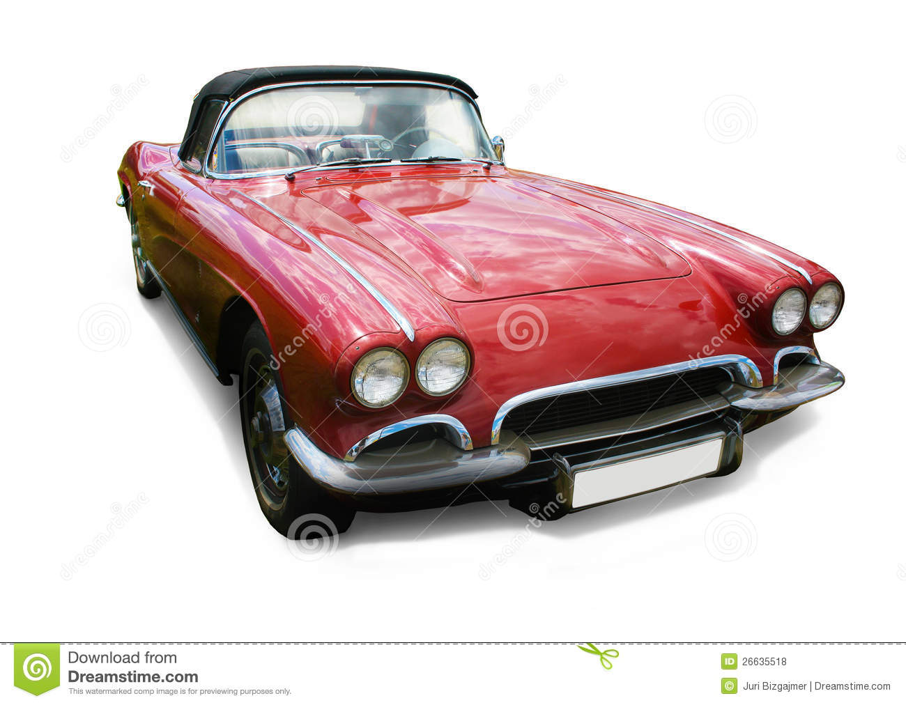 Red Car On White Background Royalty Free Stock Photos ...