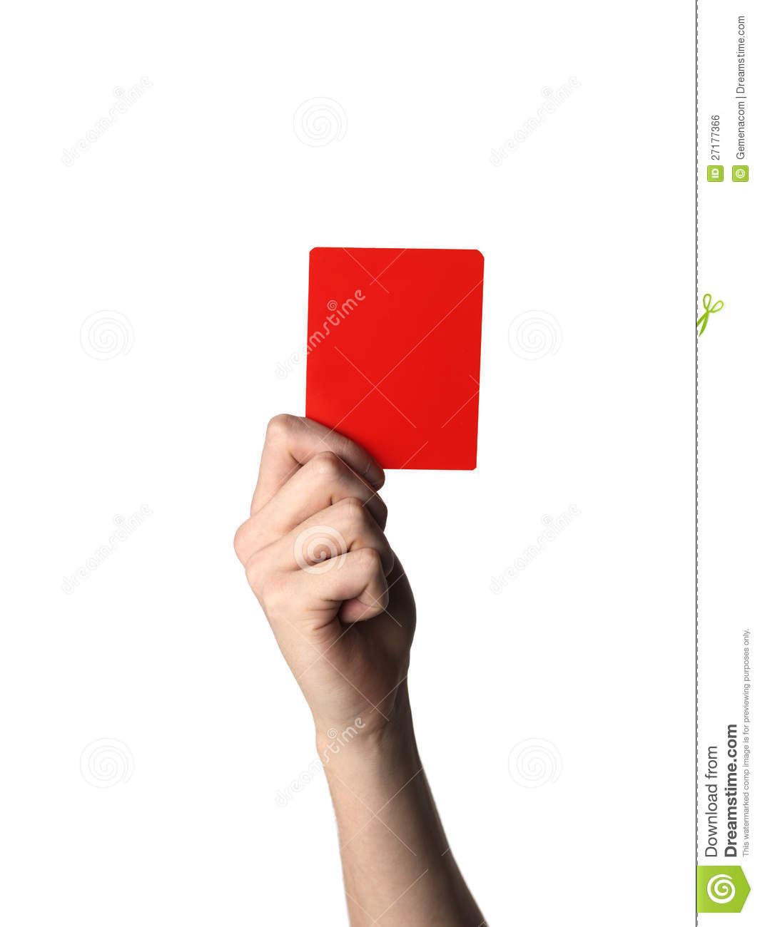 Red Card Royalty Free Stock Image - Image: 27177366