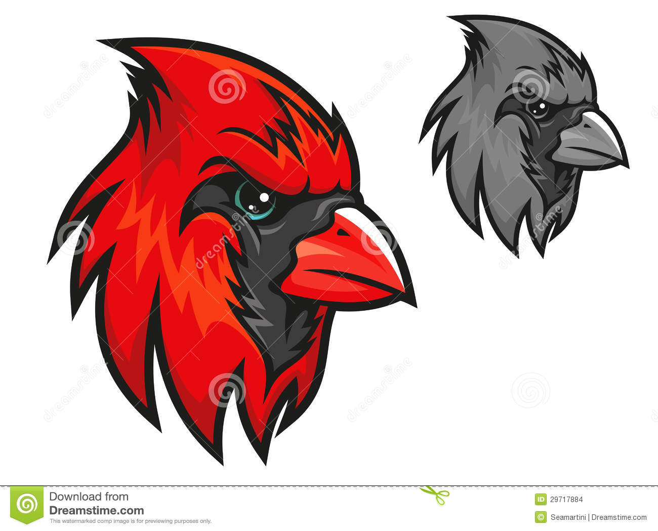 red cardinal bird in cartoon style stock images image 29717884