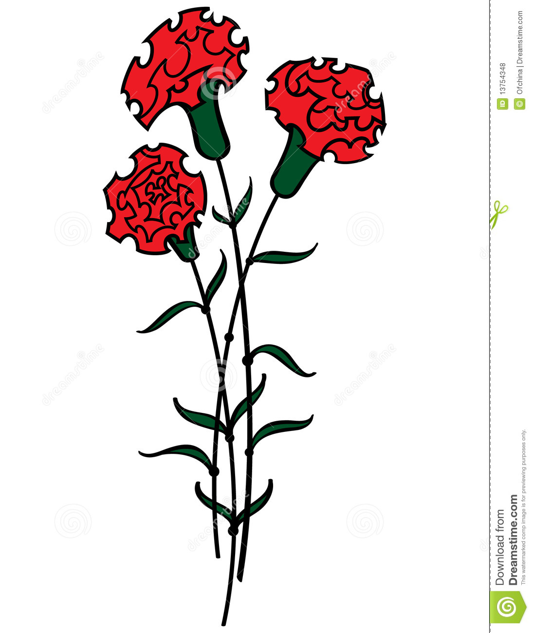 Red Carnations Royalty Free Stock Photos - Image: 13754348