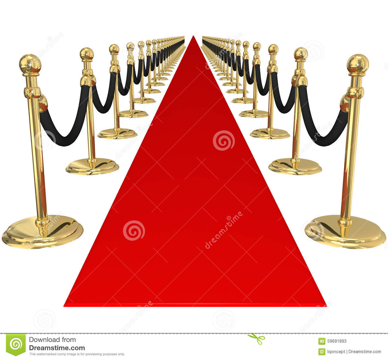 Red Carpet Gold Stanchions Exclusive VIP Party Event Invitation ...