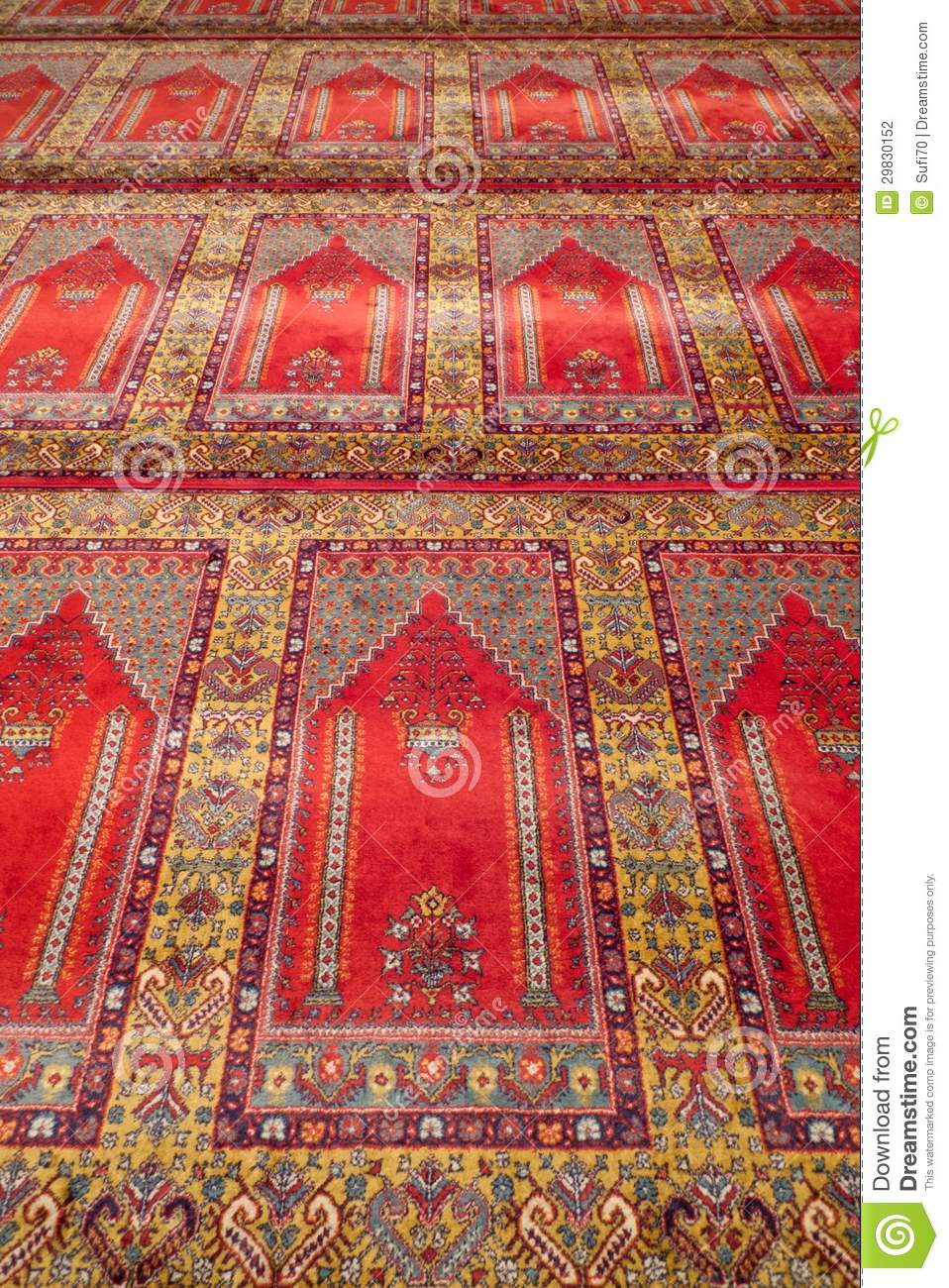 Prayer Rug In A Mosque Stock Photography Image 29830152