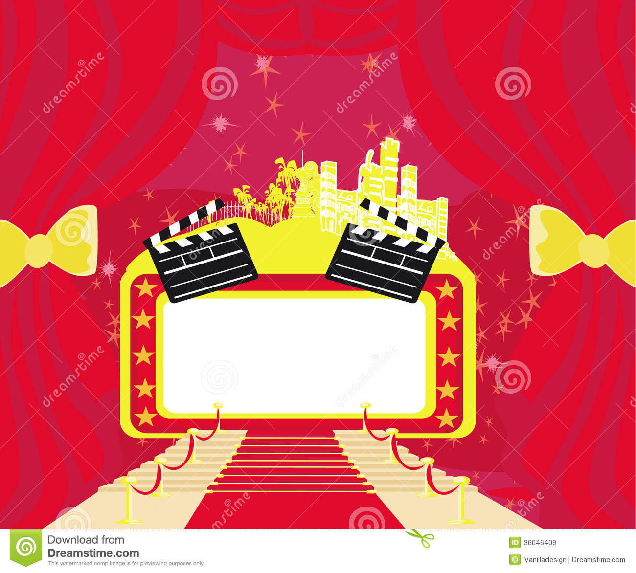 Red Carpet Hollywood Premier Abstract Card Royalty Free