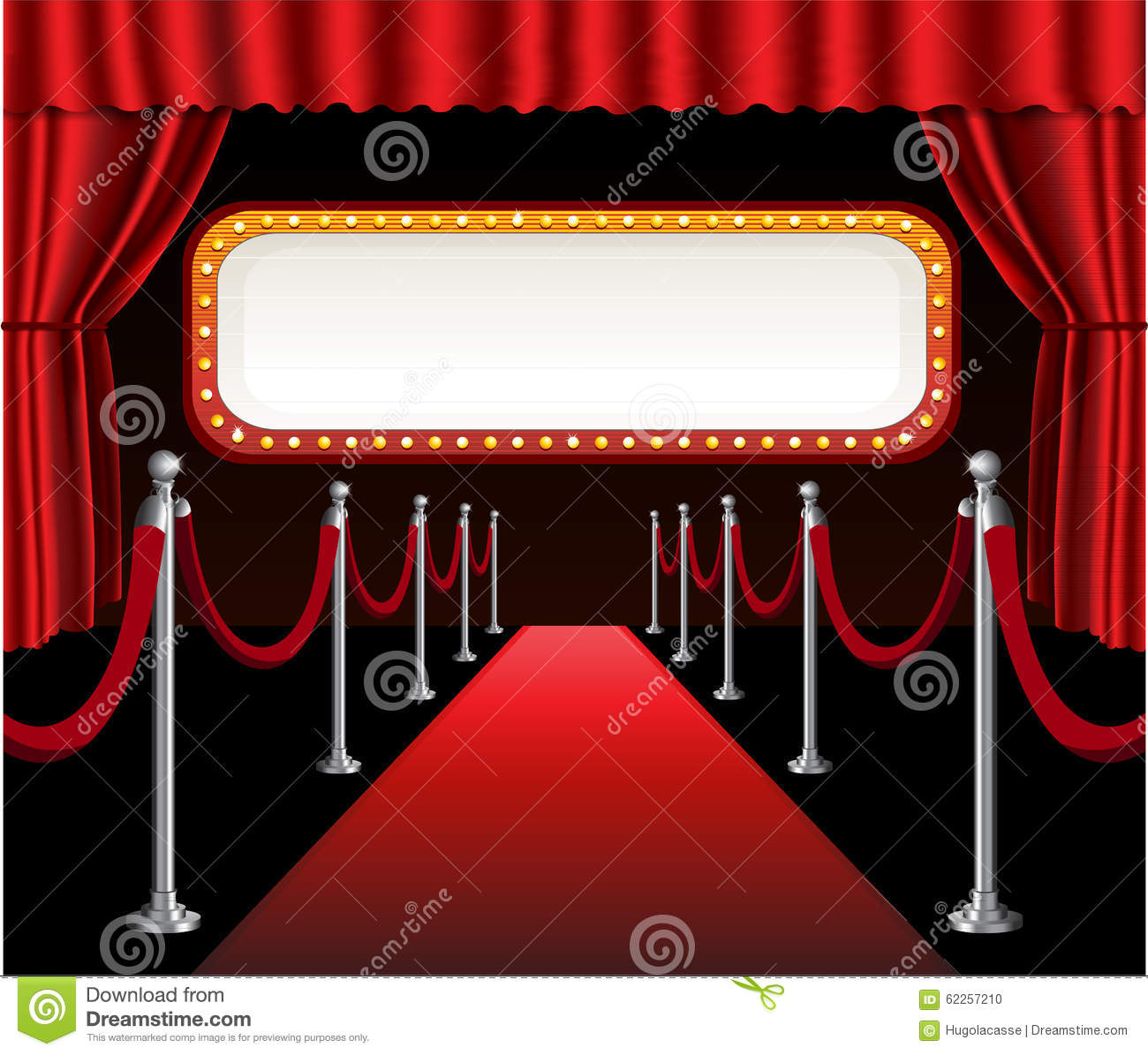red carpet movie premiere elegant event red stock vector