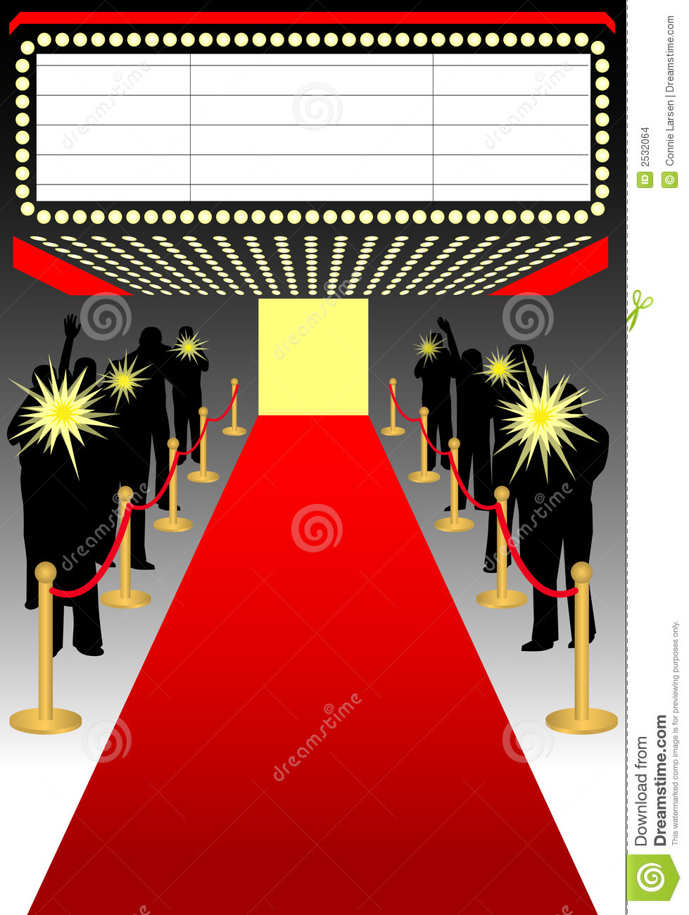 Illustration of a red carpet premier event complete with paparazzi ...