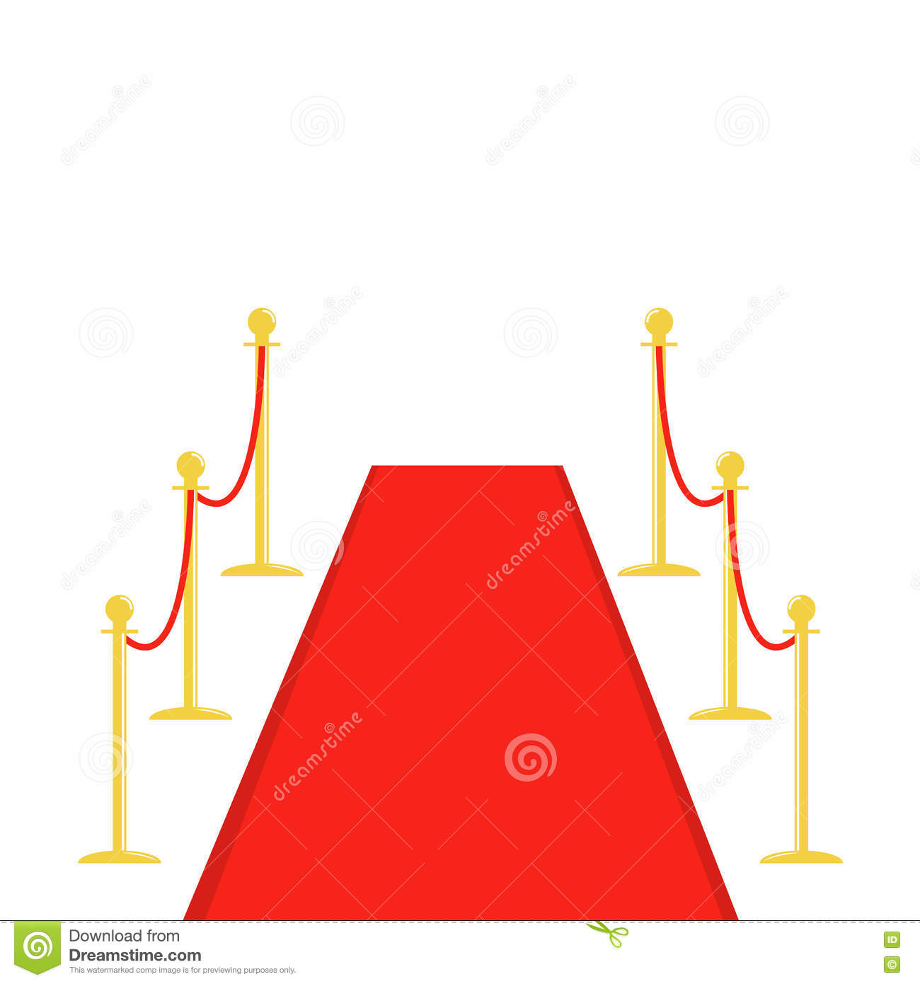 carpet design red. red carpet and rope barrier golden stanchions turnstile template white background. flat design stock image n