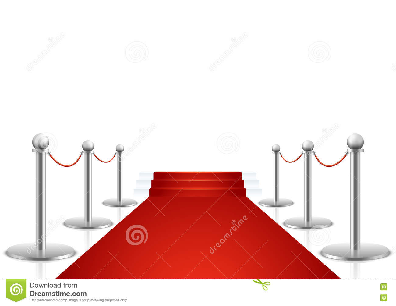 red carpet with stairs vector illustration stock vector rh dreamstime com red carpet vector graphic red carpet vector free download