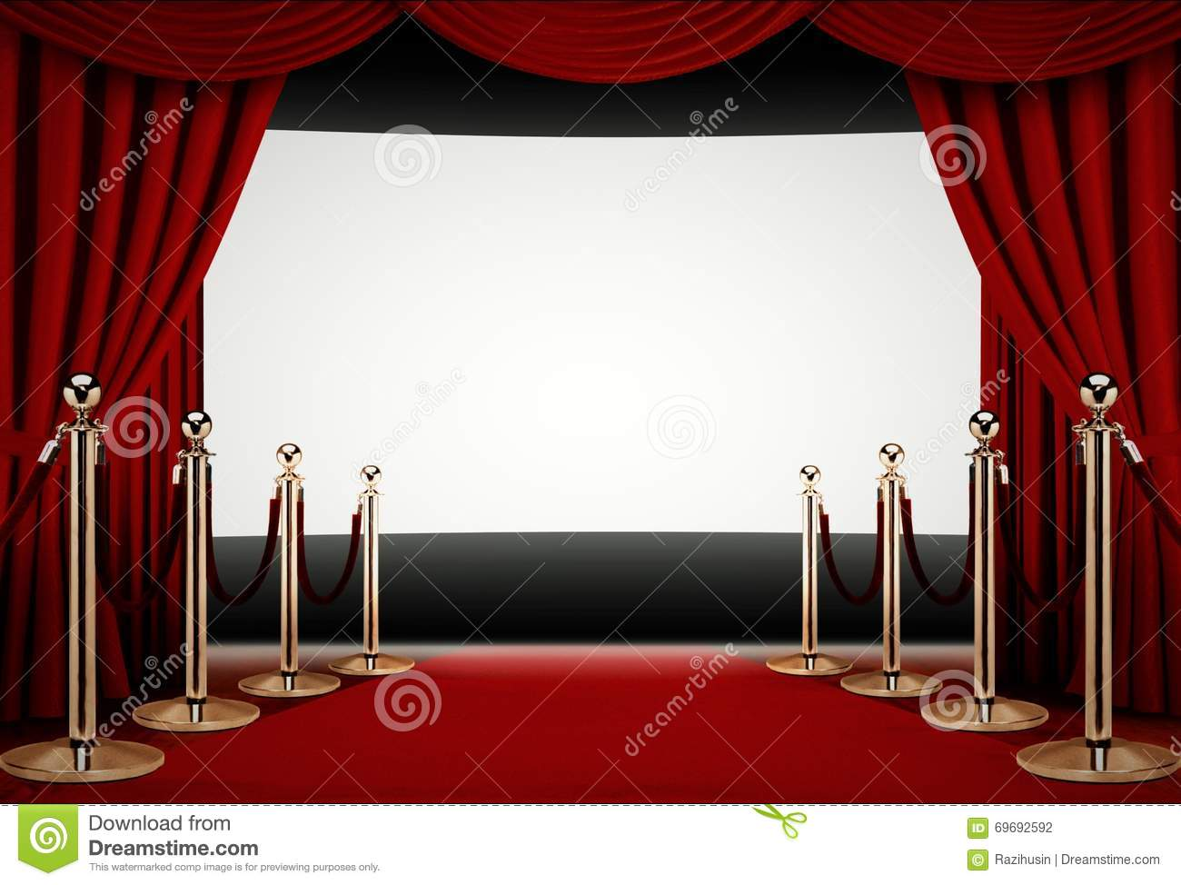 red carpet to a movie premiere event stock photo image