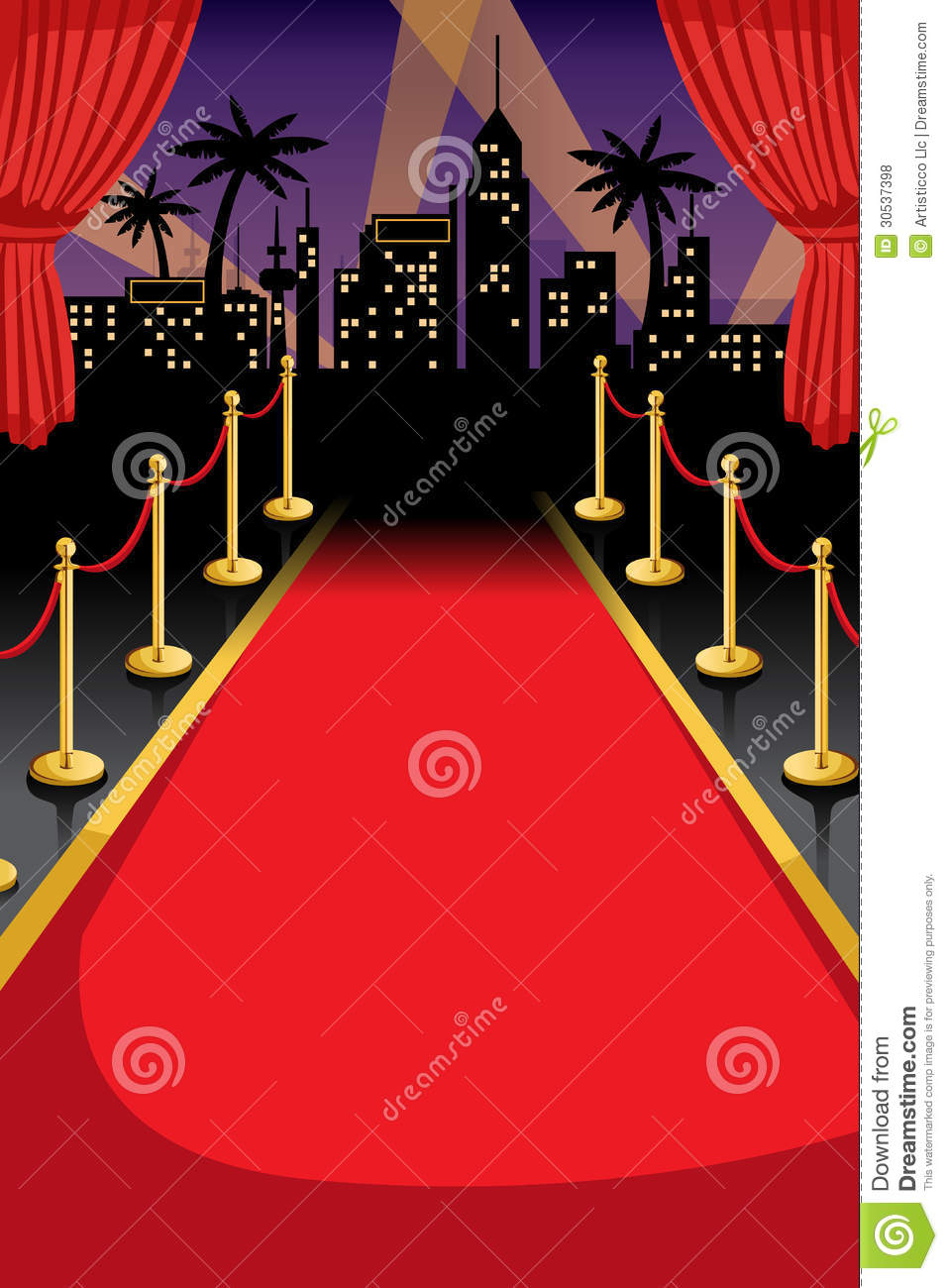 Red Carpet Stock Vector Illustration Of Copyspace Party