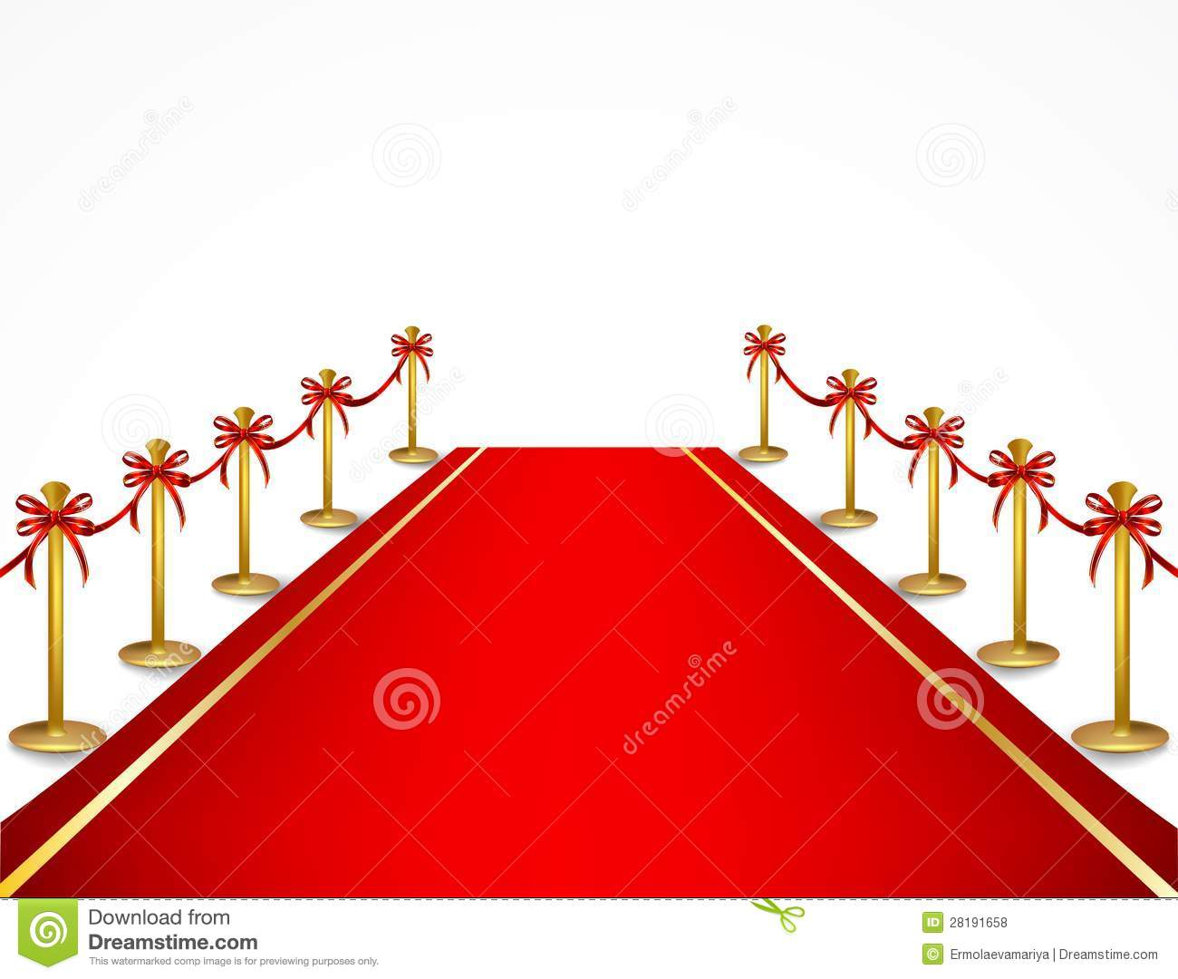 Red Carpet And Velvet Rope Vector Royalty Free Stock