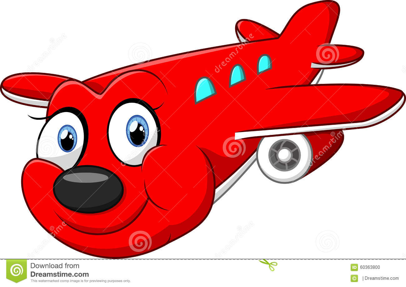 Red Cartoon Airplane Stock Illustration Image 60363800