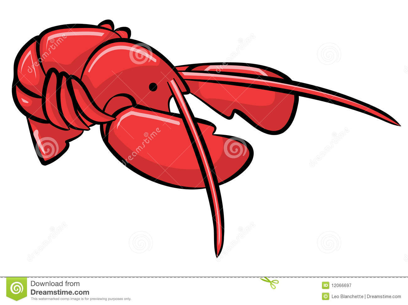 Red cartoon lobster stock illustration. Image of white - 12066697