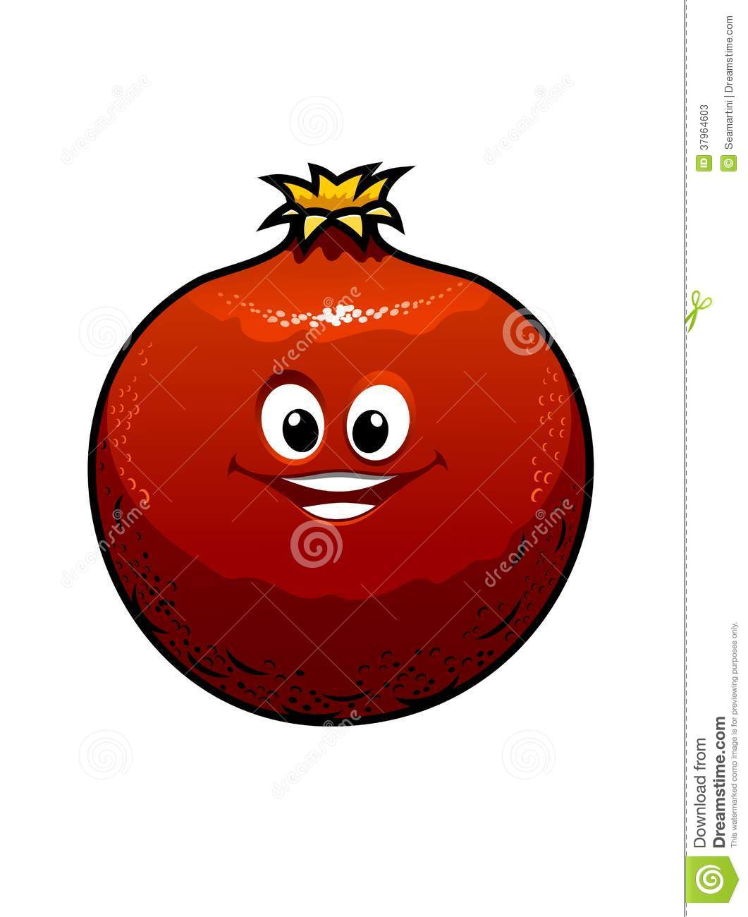 Red Cartoon Pomegranate Stock Vector Image Of Macro