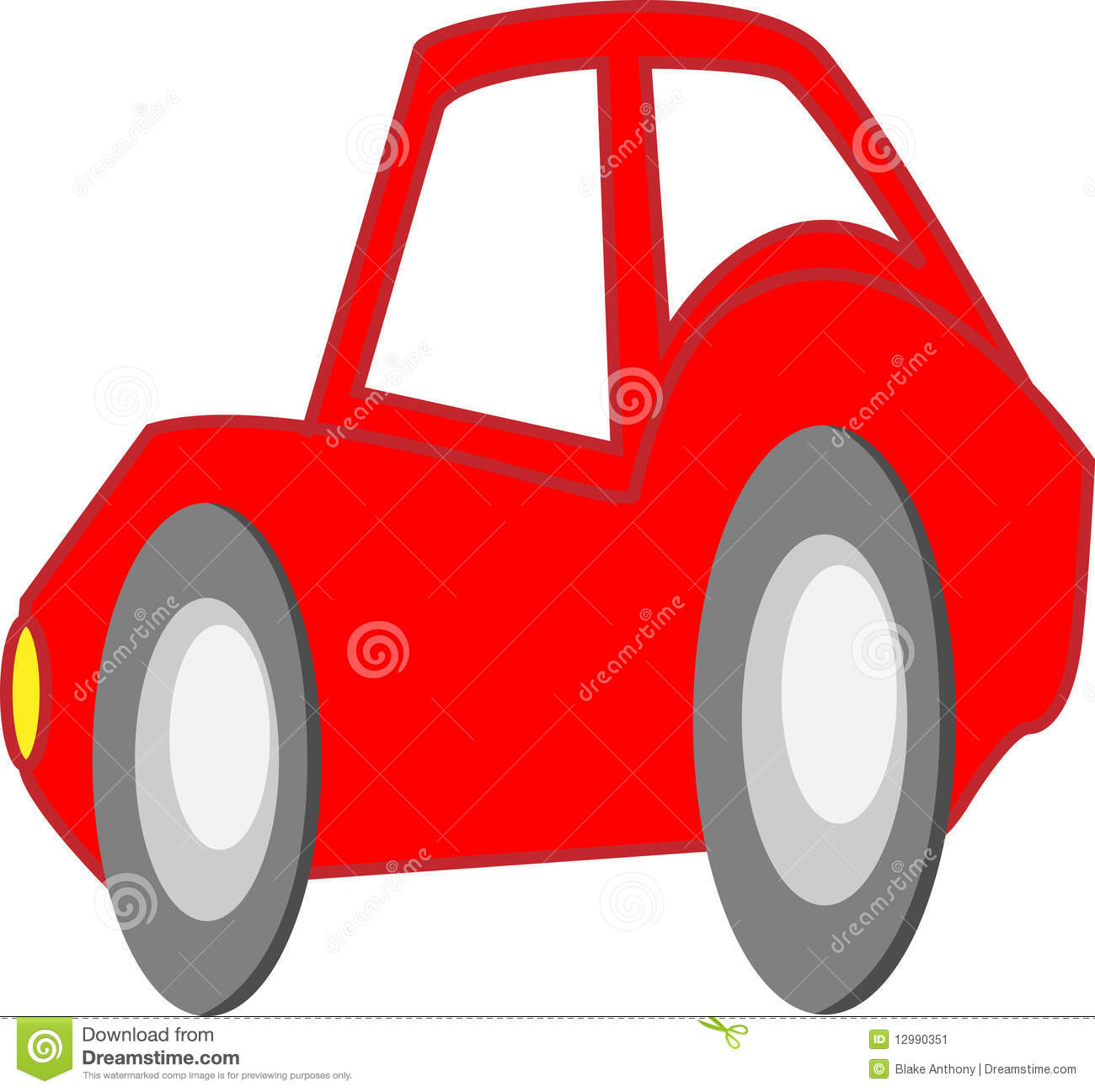 Red Cartoon Sports Car Stock Vector Image Of Automobile