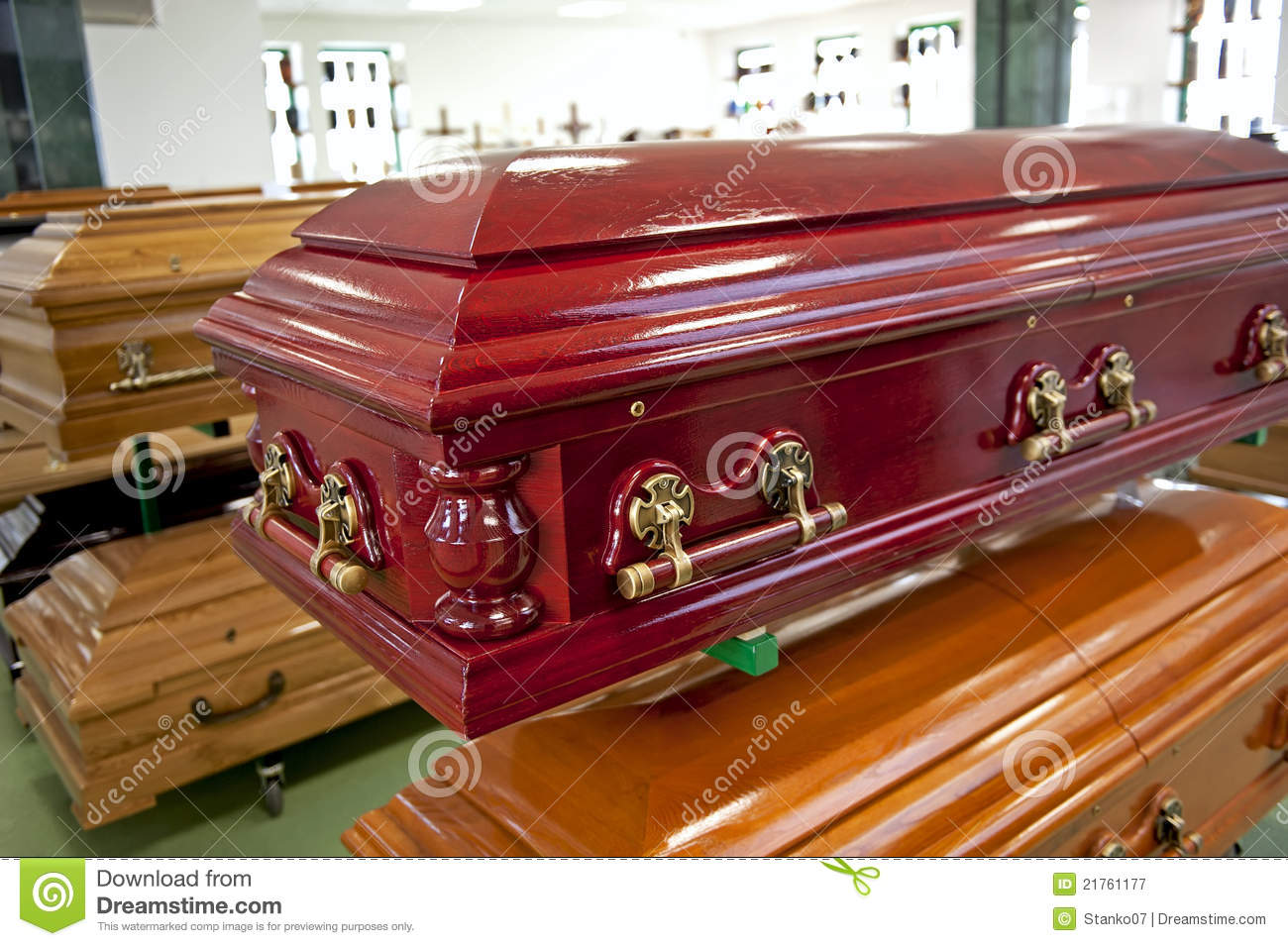 Red casket