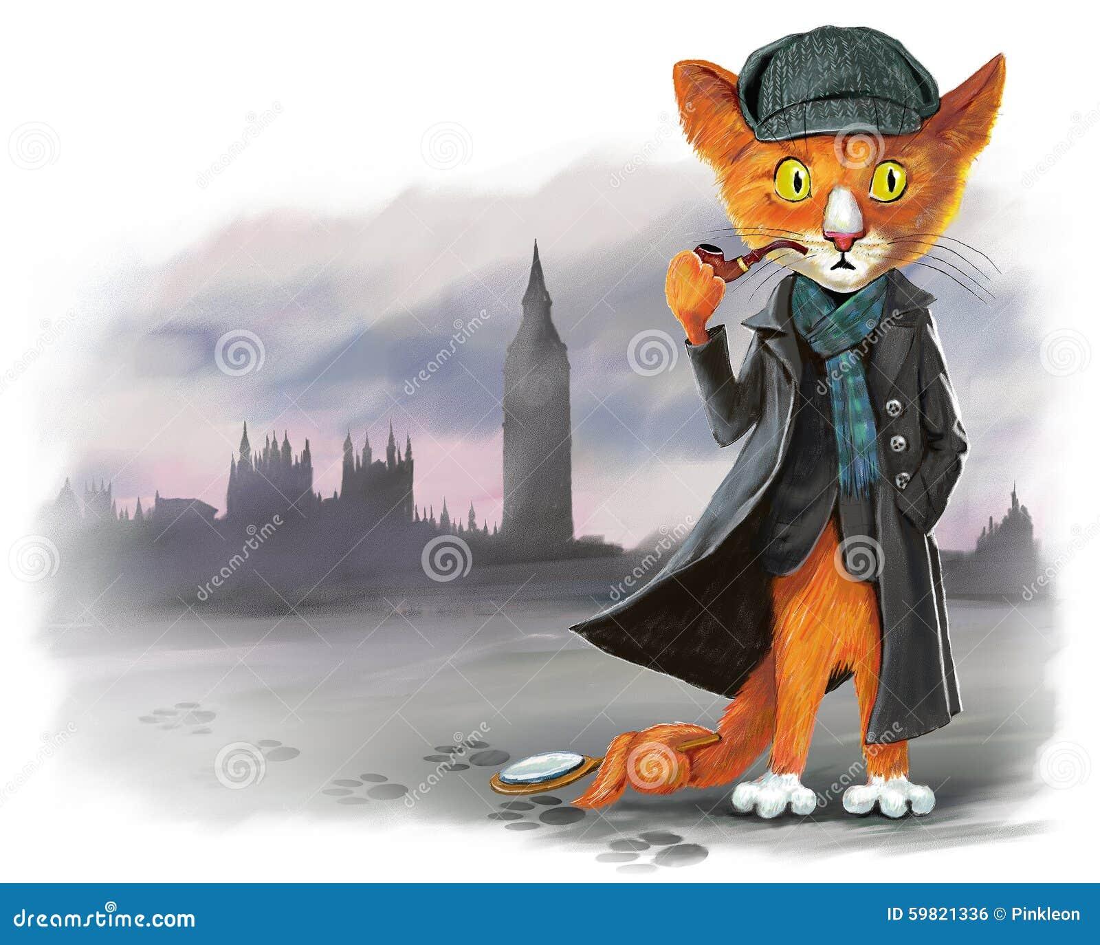 Celebrity detective sherlock kitty