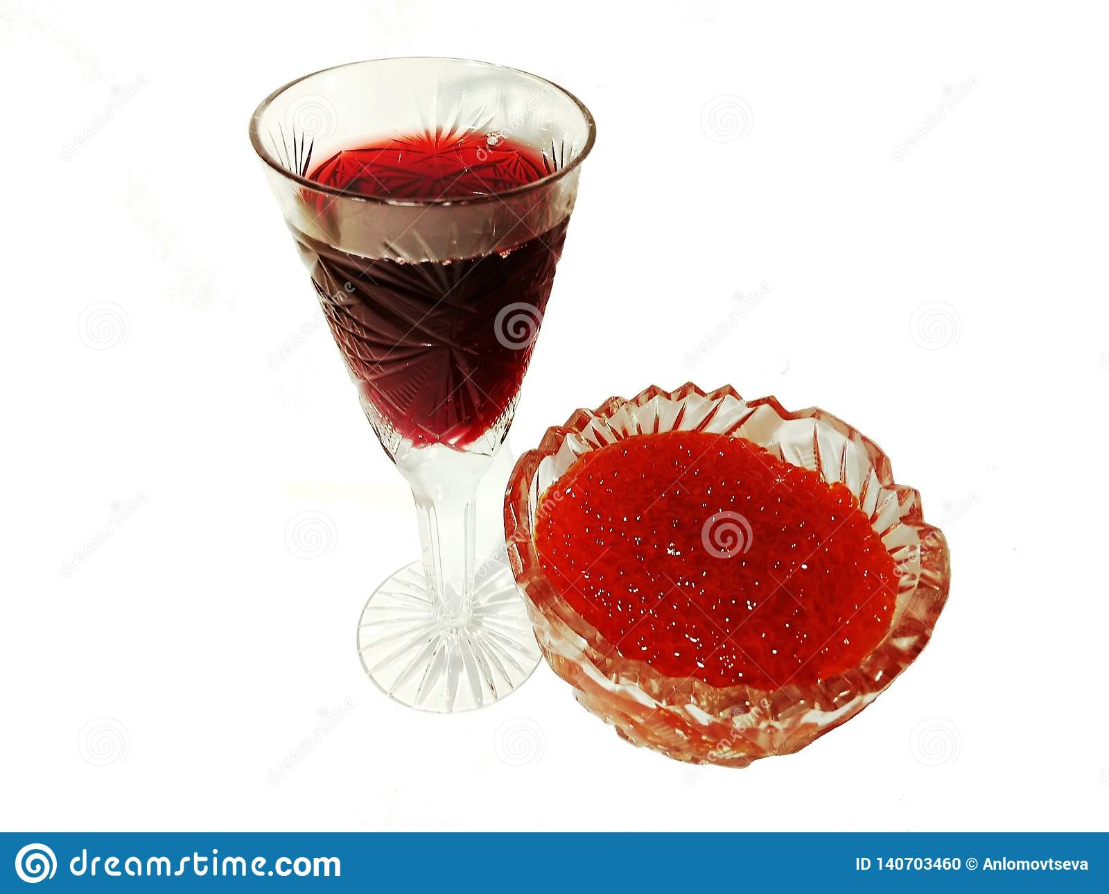 Red caviar with are red wine