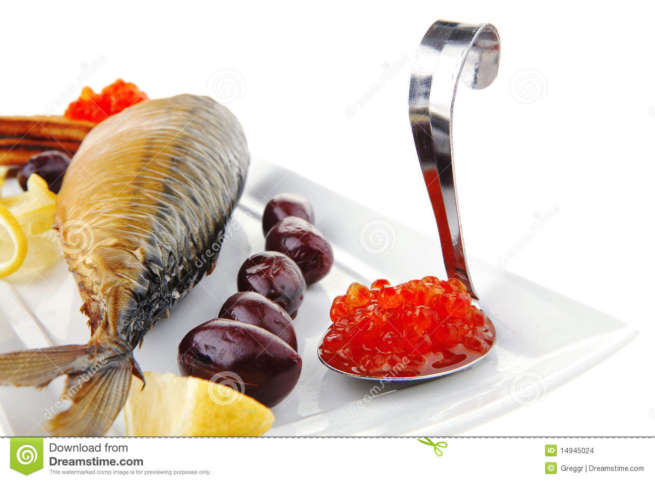 Red salty caviar with fish stock photography for Black caviar fish
