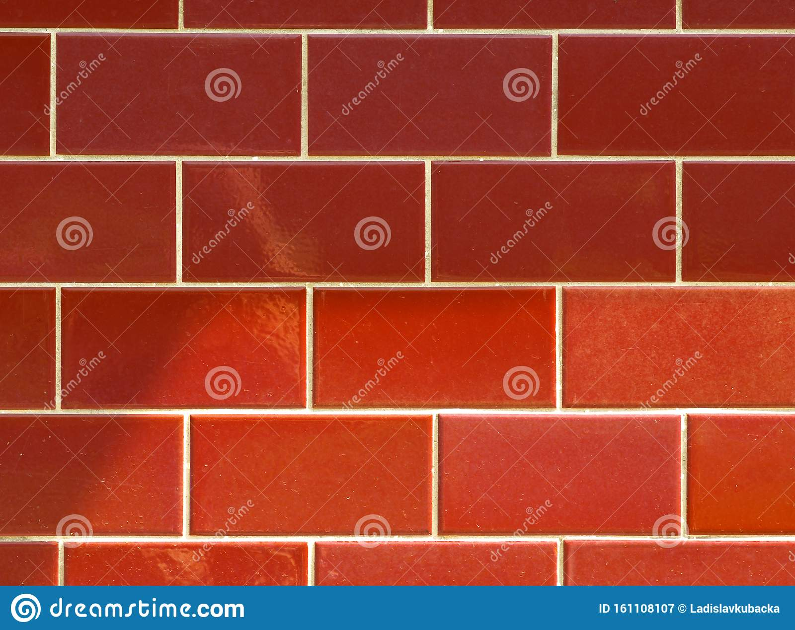 Red Ceramic Brick Tile Wall Colorful Wall Tiles Design For Bathroom Washroom And Kitchen Background From Slate Natural Stone Ti Stock Image Image Of Geometric Cement 161108107