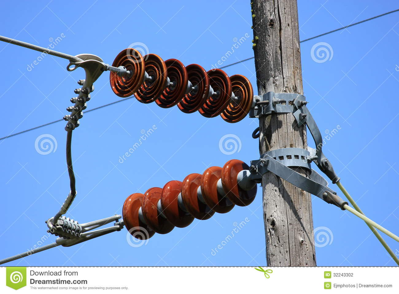 red ceramic insulators stock photo image of objects 32243302