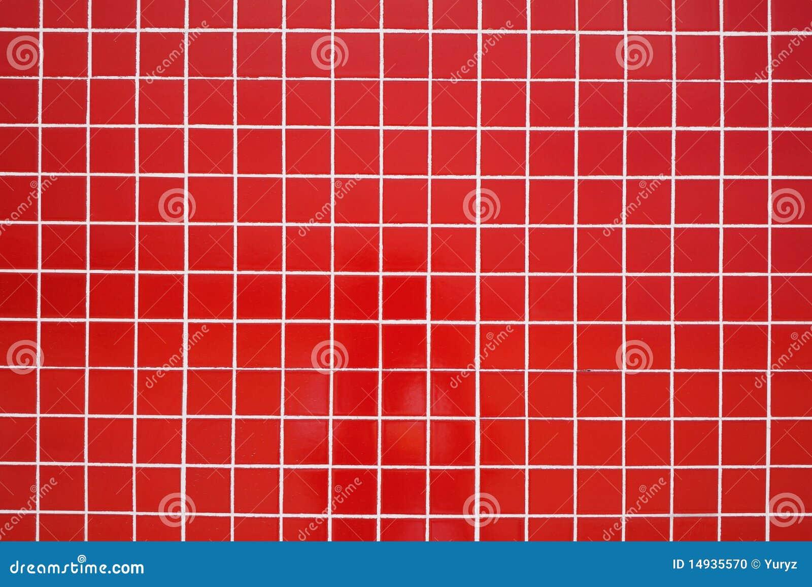 Red Ceramic Tile Stock Photo Image 14935570