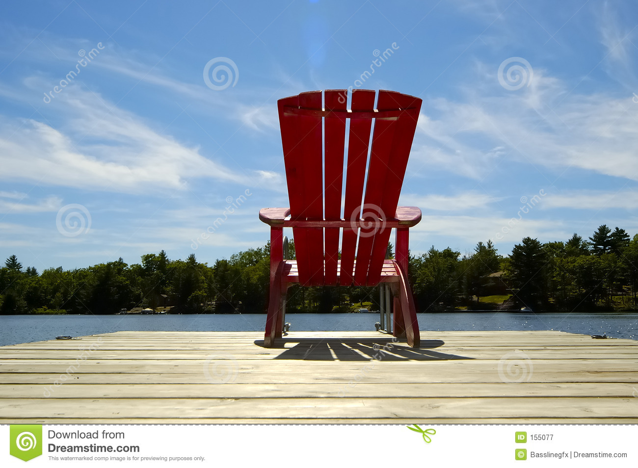 Red Chair On Deck Horizontal