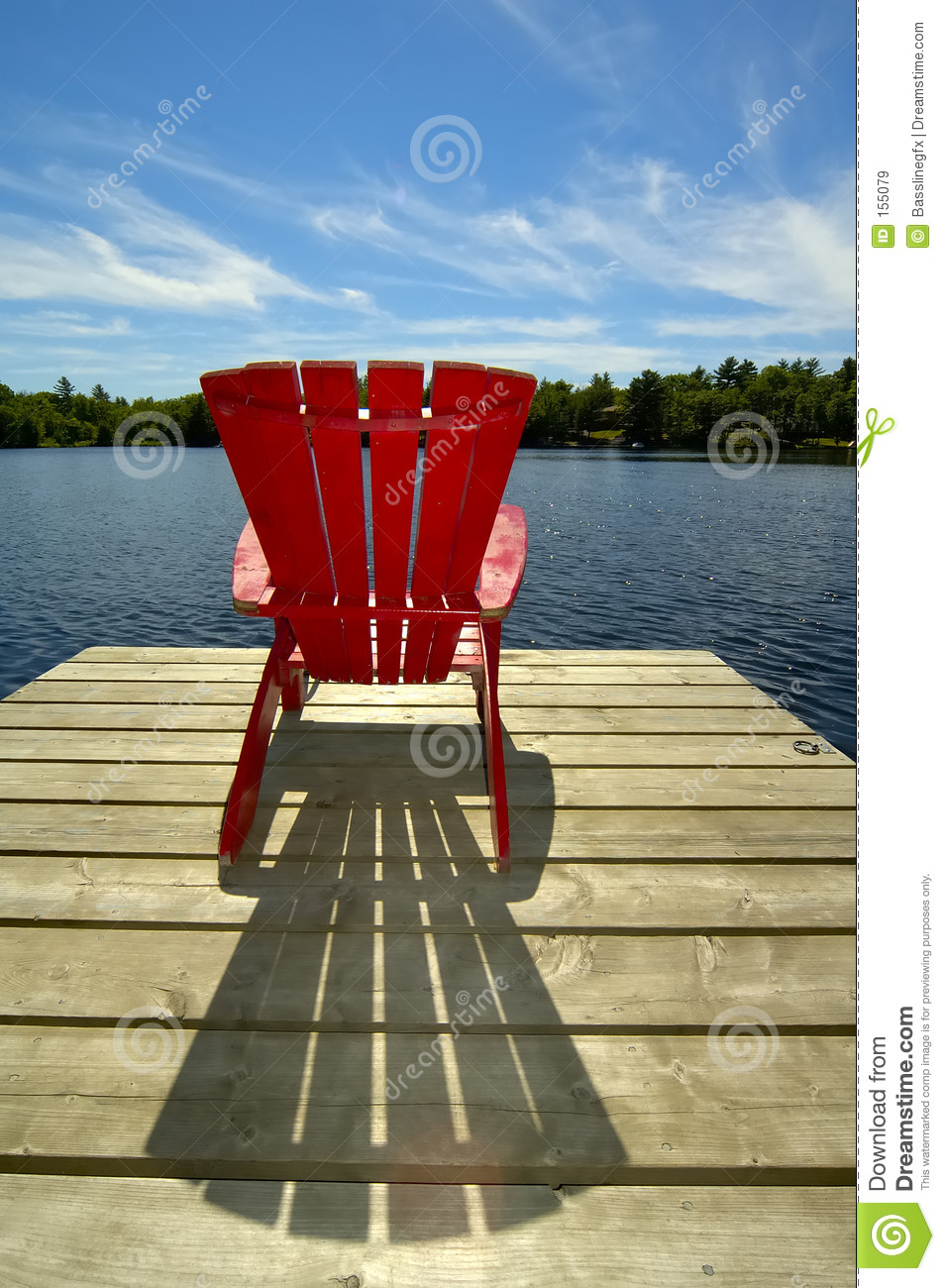 Red Chair On Deck Vertical Royalty Free Stock Images - Image: 155079