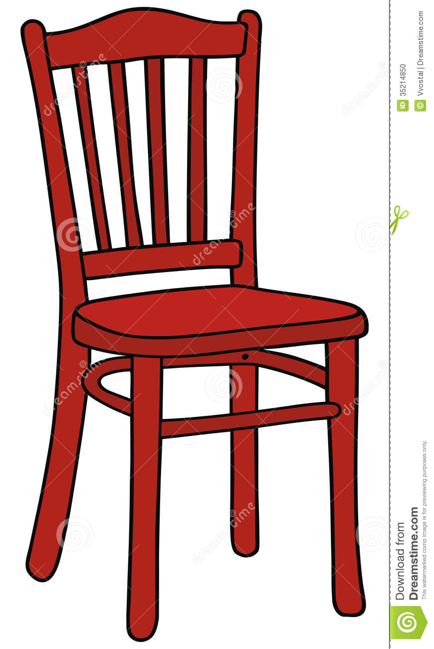 Red Rocking Chair Clipart ~ Red chair stock illustration of wooden