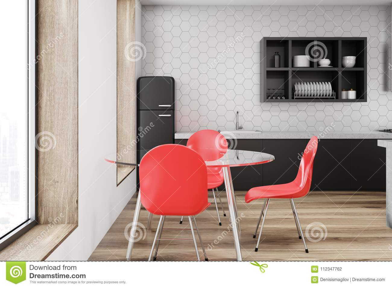Peachy Red Chair Kitchen Interior White Wall Stock Illustration Unemploymentrelief Wooden Chair Designs For Living Room Unemploymentrelieforg