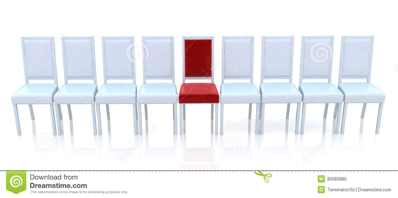 Red Chair In A Row Stock Photo Image 30085880