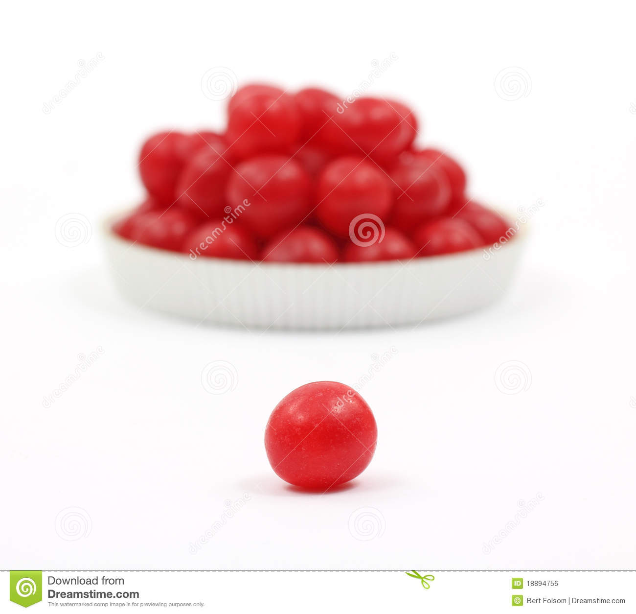 Red Cherry Sour Ball In Foreground Stock Photo Image Of Cherry White 18894756