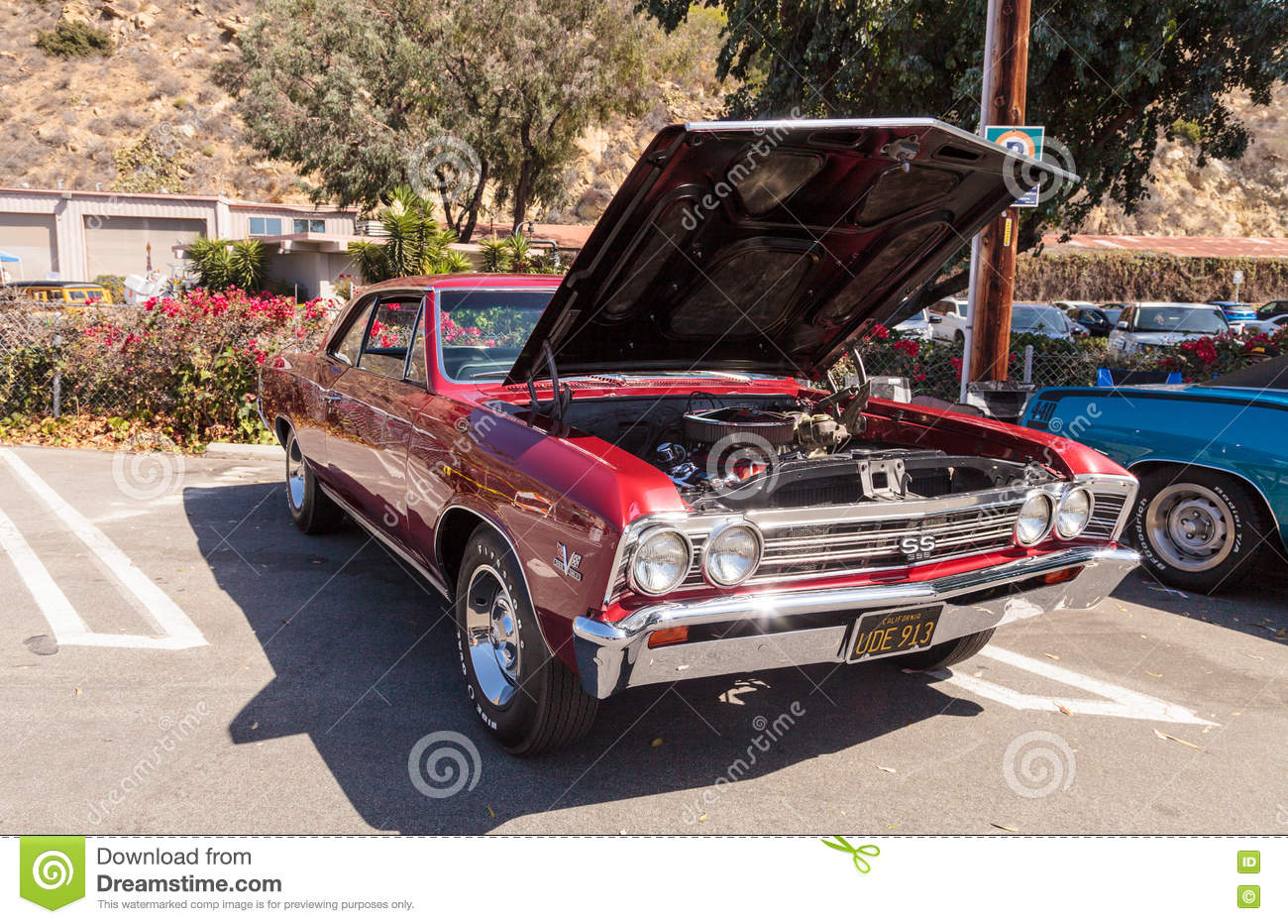 2016 Chevelle Ss >> Red 1967 Chevy Chevelle Ss Coupe Editorial Stock Photo