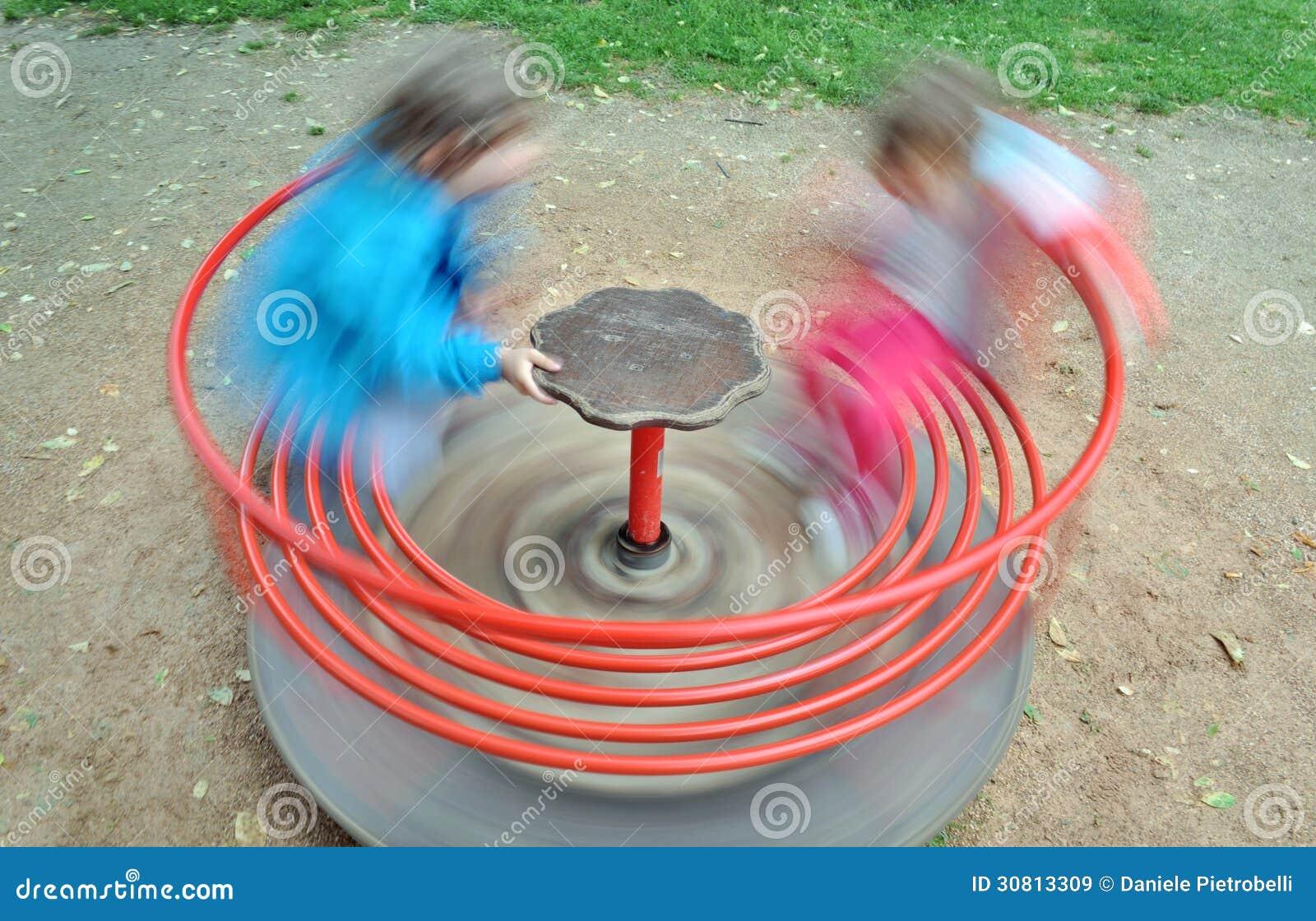 red children carousel spinning round royalty free stock Round Magnet Clip Art Round Magnet Clip Art