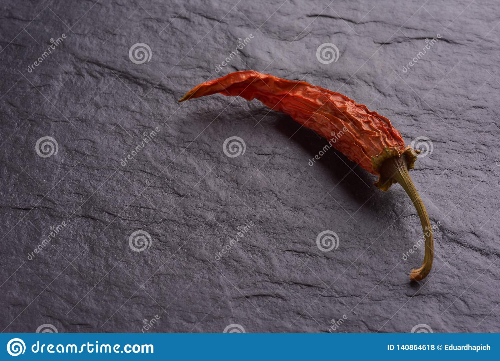 Lonely Dried Red Chilli Peppers