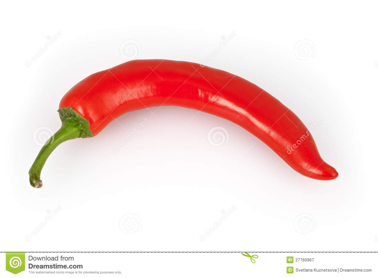 Red Chili Peper Isolated On White Royalty Free Stock Photography ...