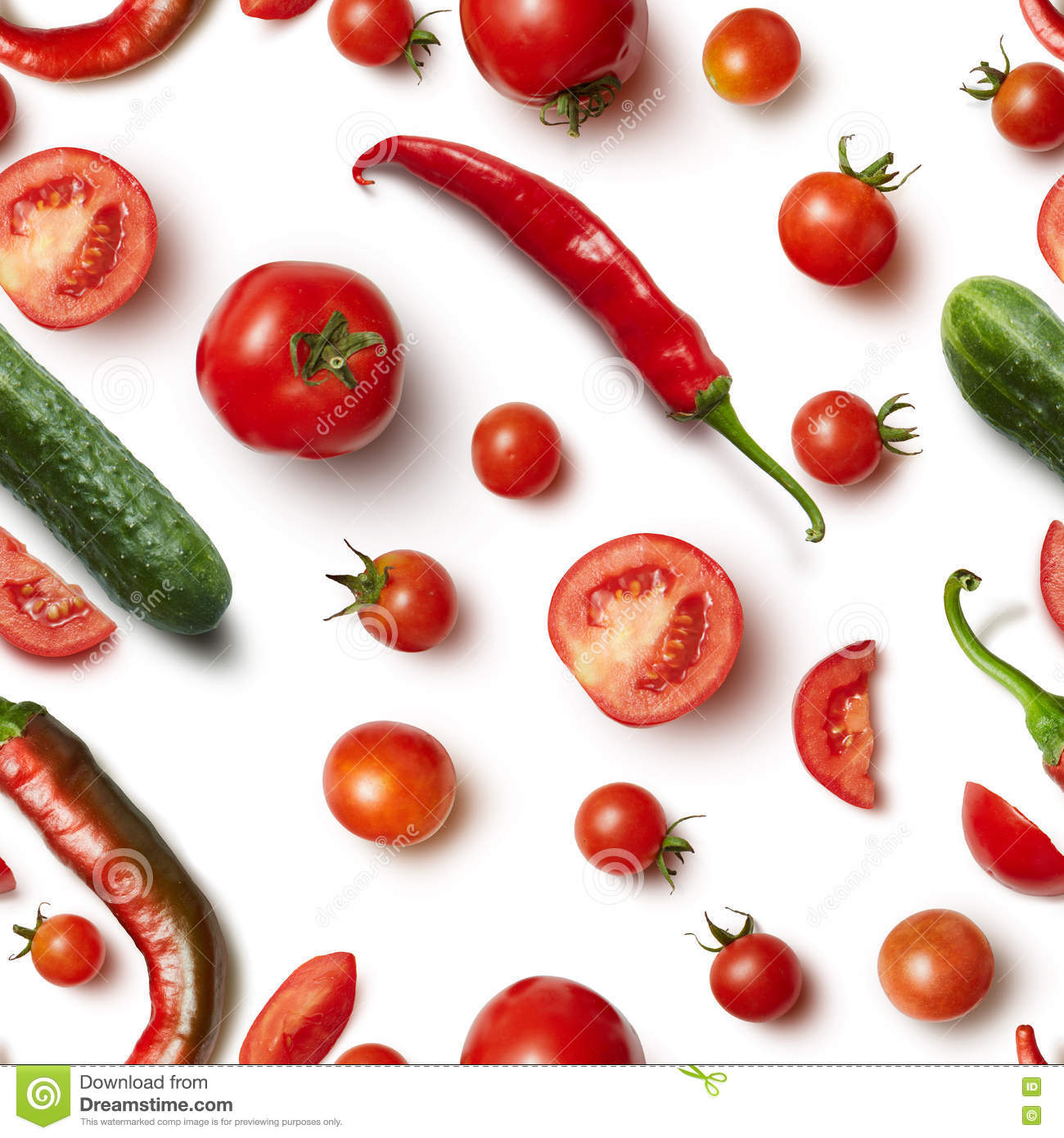 red chili pepper cucumber and tomato on white background stock photography cartoondealer. Black Bedroom Furniture Sets. Home Design Ideas