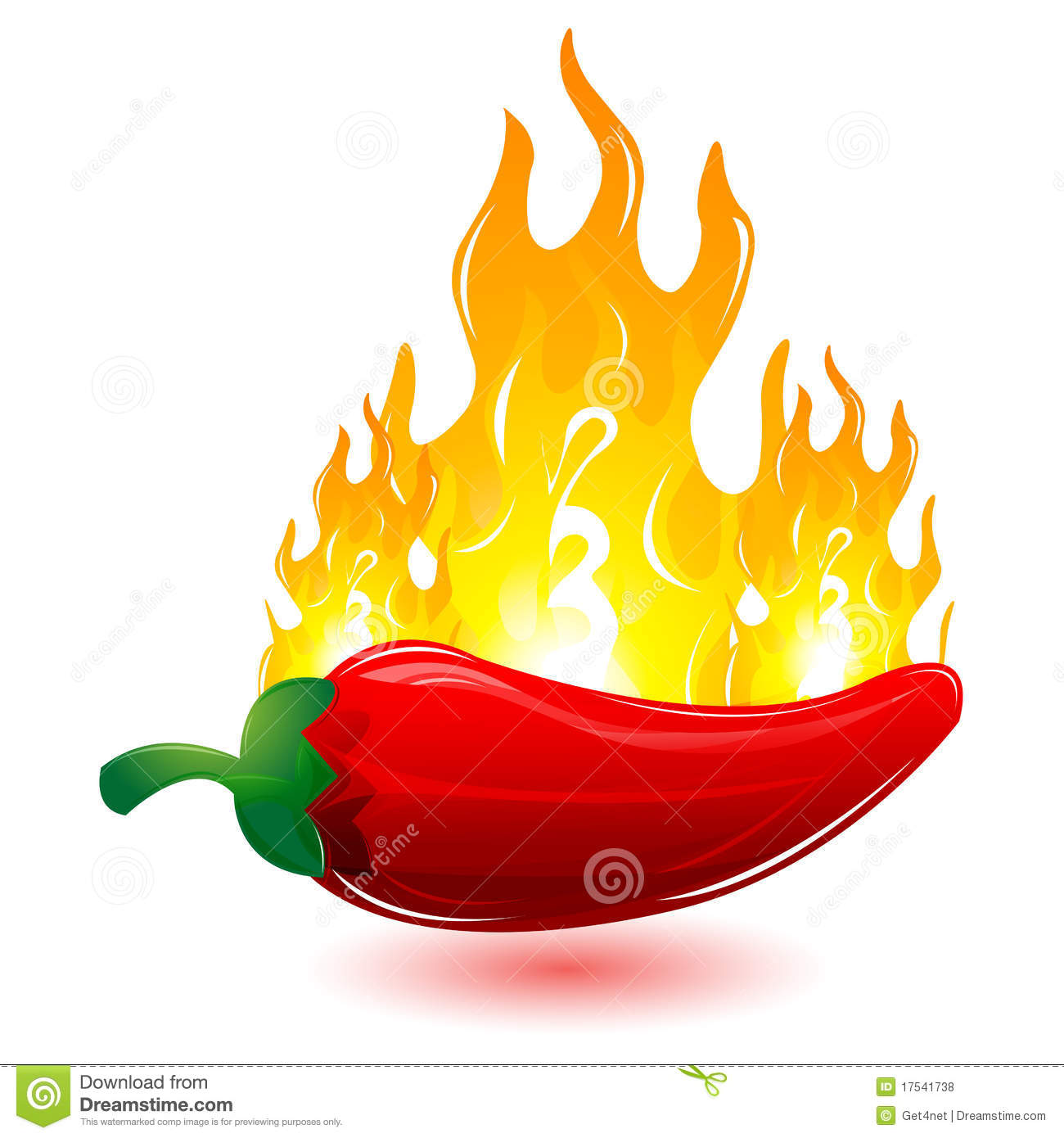 Red Chilli With Fire Royalty Free Stock Photos - Image: 17541738