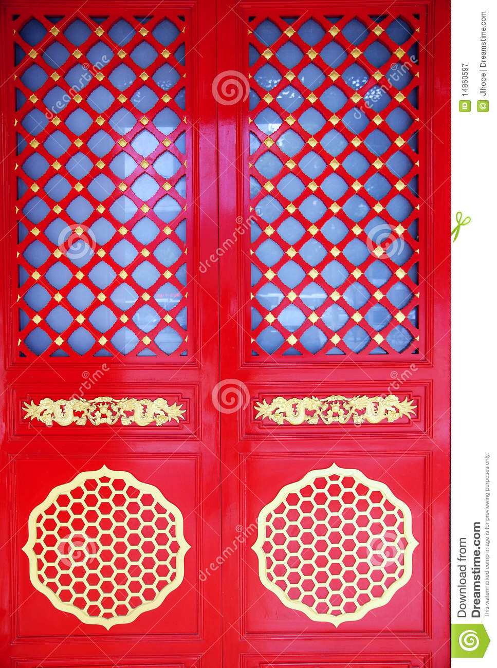 red Chinese gate
