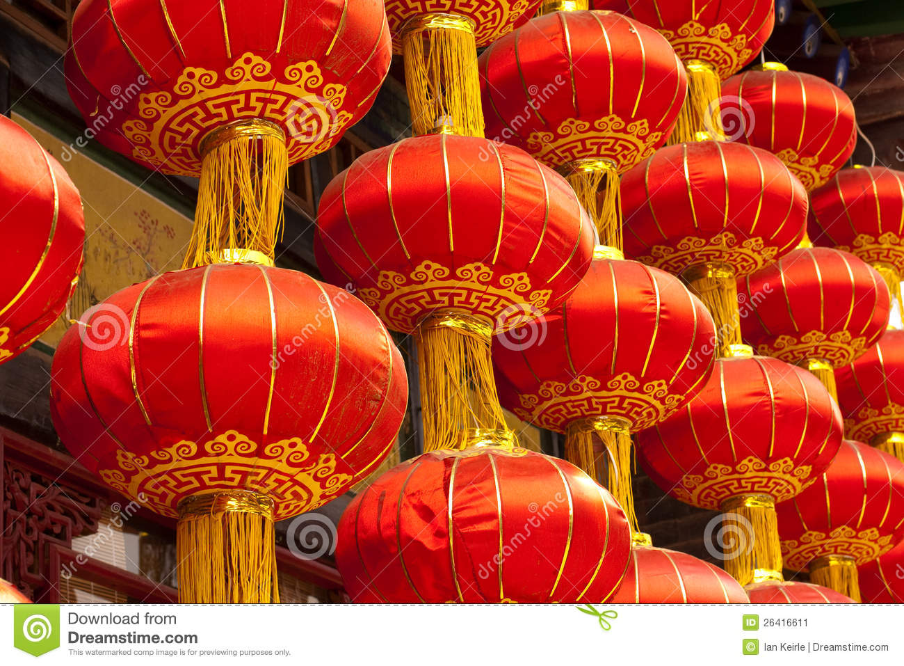 Traditional Japanese House Plans Red Chinese Lanterns Stock Image Image Of Light